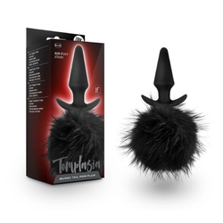 Temptasia Bunny Tail Pom Plug Black