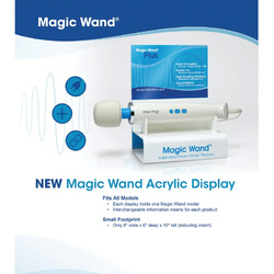 Category: Dropship Countertop Display, SKU #74053, Title: Magic Wand Acrylic Display with Tester