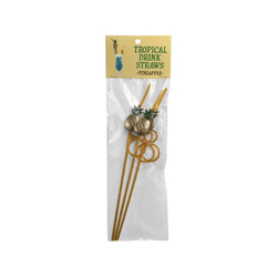 Tropical Drinking Straws Pineapple