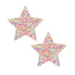 Neva Nude Pastie Star Sprankles Neon UV