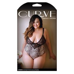 Curve Lorena Animal Print Teddy 1x/2x