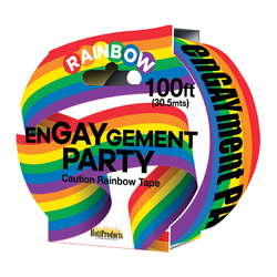 Engaygement Rainbow Caution Tape. 100'