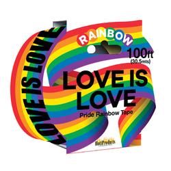 Love Is Love  Rainbow Caution Tape. 100'