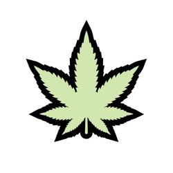 Weed Pin Leaf Glow-in-the-Dark