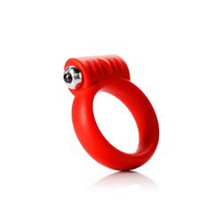 """Tantus Vibrating C- Ring 2"""" - Red"""