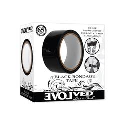 Evolved Red Bondage Tape 65ft Black