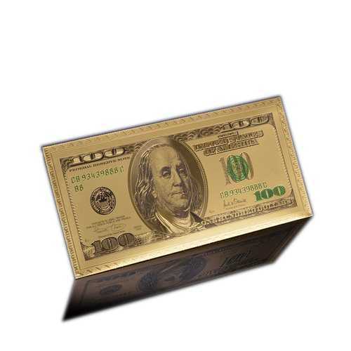 24k Gold Plated 100 Dollar Gold Envelope