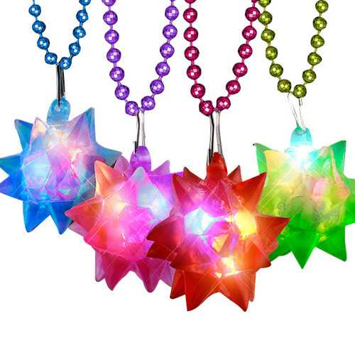 Beaded Crystal Star Necklace