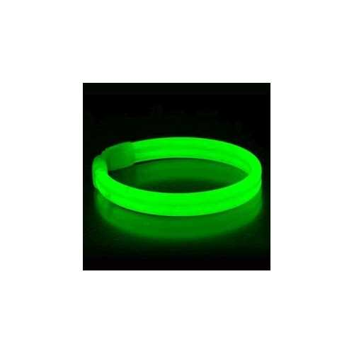 Wide Glow Stick 8 Inch Bracelet Green Pack of 30