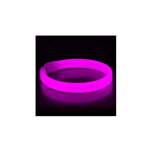 Wide Glow Stick 8 Inch Bracelet Pink Pack of 30