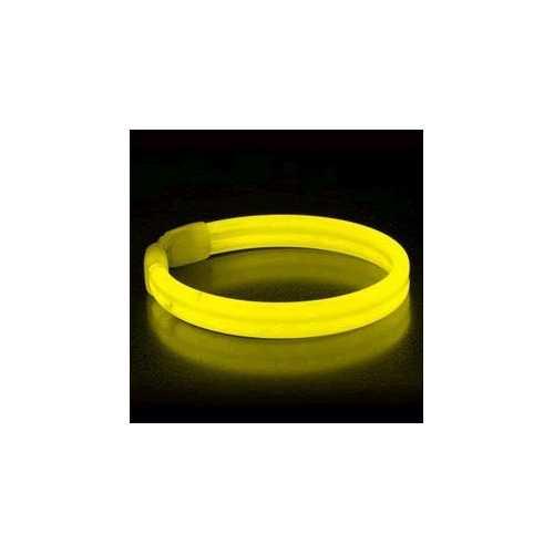 Wide Glow Stick 8 Inch Bracelet Yellow Pack of 30