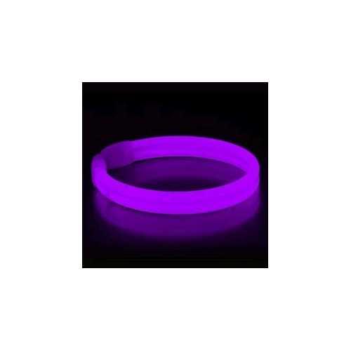 Wide Glow Stick 8 Inch Bracelet Purple Pack of 30