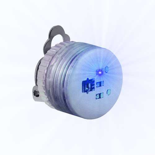 Blue Steady Clip Button Body Lights
