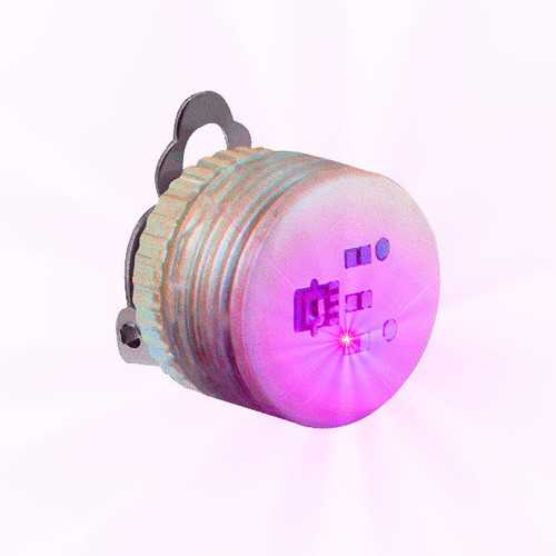Pink Steady Clip Button Body Lights