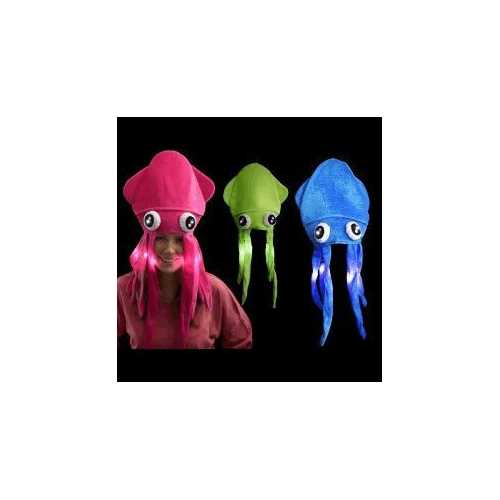 Assorted LED Under the Sea Squid Hat Pack of 4