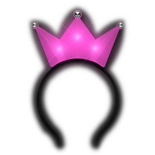 3 Jeweled Hot Pink Princess Crown Headbands