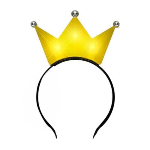 3 Jeweled Yellow Princess Crown Headbands