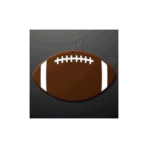 Football Medallion Charm with J Hook for Necklace