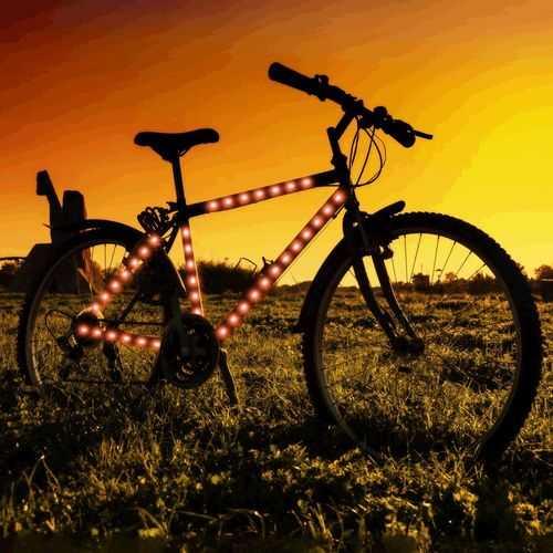 Bike Frame LED Strip Tape Red