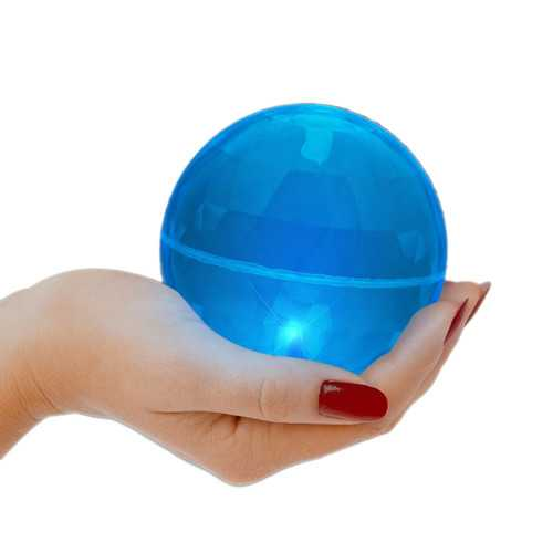 4 Inch LED Super Bounce Ball Blue