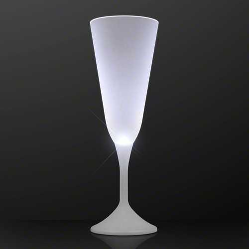 LED Steady White Light Champagne Party Drinking Glass