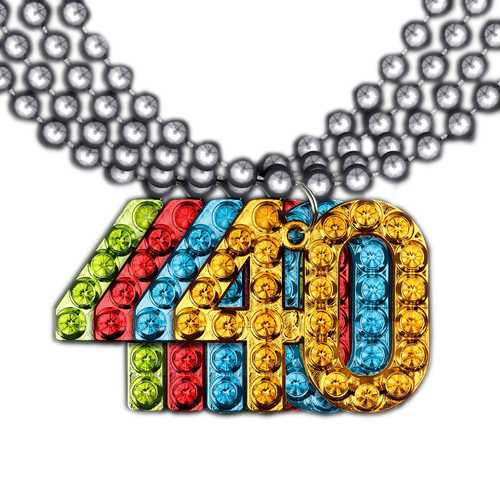 40 Charm on Beads Happy Birthday Bead Necklace Assorted Pack of 12 Unlit