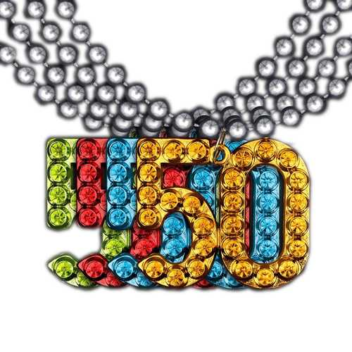 50 Charm on Beads Happy Birthday Bead Necklace Assorted Pack of 12 Unlit