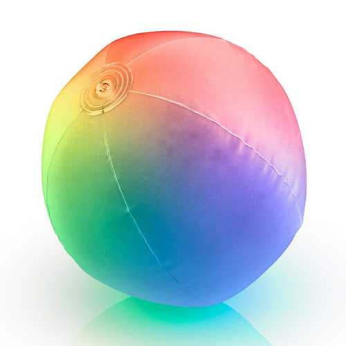 32 Inch Multicolored Inflatable Light Up Beach Ball