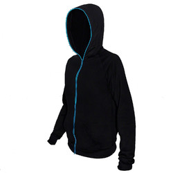 Category: Dropship Arts & Entertainment, SKU #185160, Title: Electro Luminescent Zip Up Hoodie Blue Medium