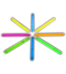 2 Inch Glow Stick Assorted Pack of 100