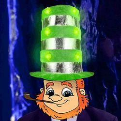 Category: Dropship Arts & Entertainment, SKU #3995446, Title: 1 Dozen Light Up Shamrock Tall Top Hats