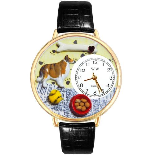 Collie Watch in Gold (Large)