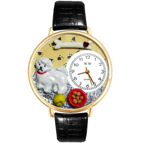 Bichon Watch in Gold (Large)