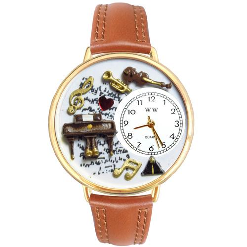 Music Piano Watch in Gold (Large)