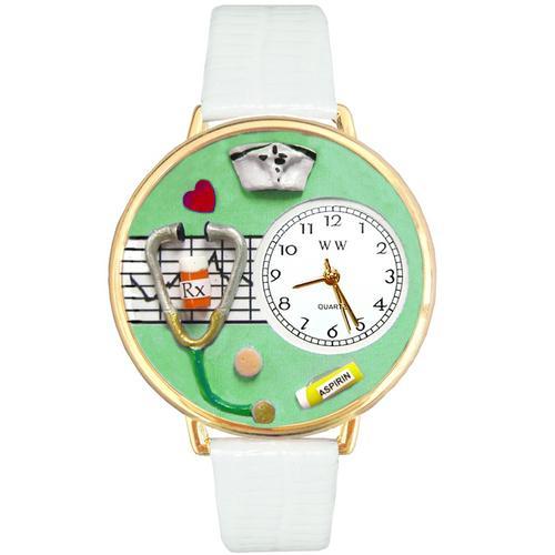 Nurse Green Watch in Gold (Large)