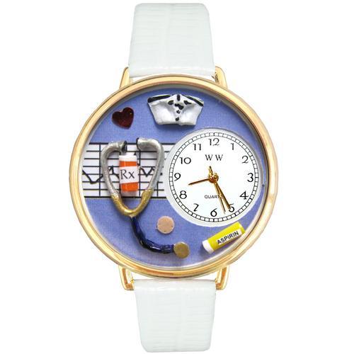 Nurse Purple Watch in Gold (Large)