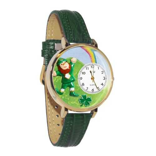 St. Patrick's Day Watch (Rainbow) in Gold (Large)