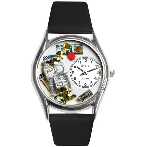 Casino Watch Small Silver Style