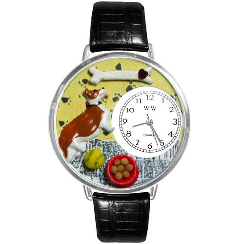 Corgi Watch in Silver (Large)