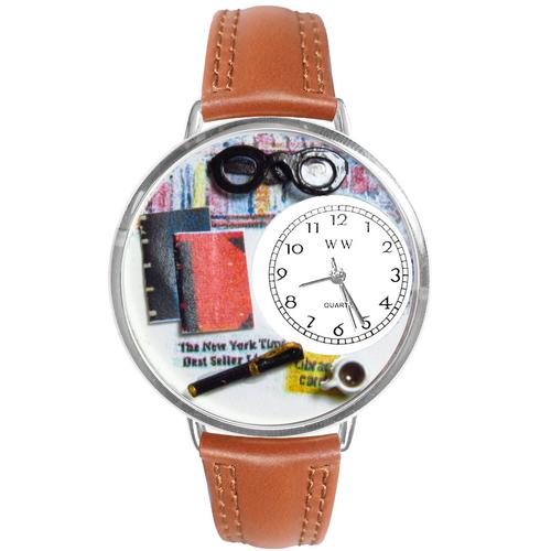 Book Lover Watch in Silver (Large)