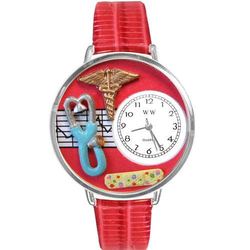 Nurse 2 Red Watch in Silver (Large)