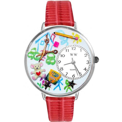 Preschool Teacher Watch in Silver (Large)