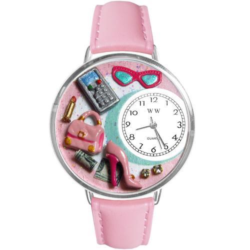 Shopper Mom Watch in Silver (Large)