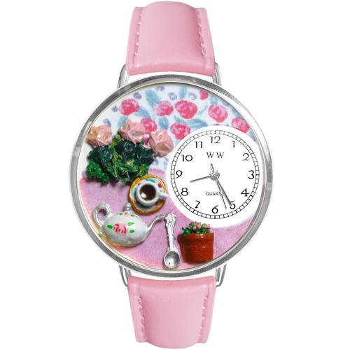 Tea Roses Watch in Silver (Large)
