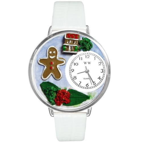 Christmas Gingerbread Watch in Silver (Large)