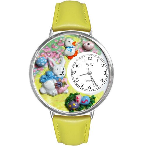 Easter Bunny Watch in Silver (Large)