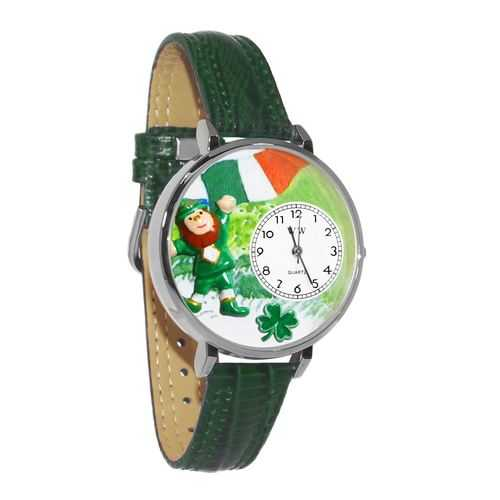 St. Patrick's Day Watch (Irish Flag) in Silver (Large)