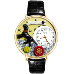 Labrador Retriever Watch in Gold (Large)