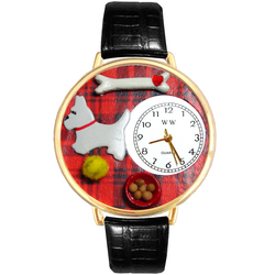 Westie Watch in Gold (Large)