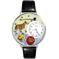 Collie Watch in Silver (Large)